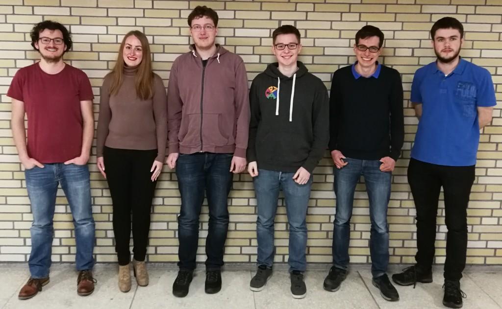 Unser am 29. Januar 2018 gewähltes Sprecherteam (von lins): Markus Tideman, Esther Heitkamp, Patrick Wernhardt, Christian Fritz, Johannes Uhl und Jonas Steiner
